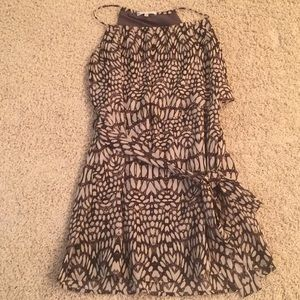 Dresses & Skirts - Brown and Tan Printed Dress Size Small